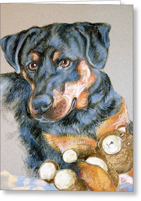 Rottweiler Dog Greeting Card