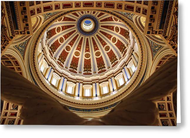 Rotunda Dome On Wings Greeting Card by Joseph Skompski