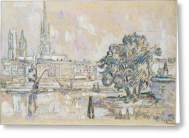 Rouen Cathedral  Greeting Card by Paul Signac