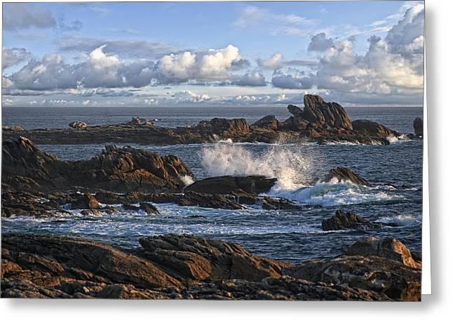 Rough Breton Shore Greeting Card by Joachim G Pinkawa