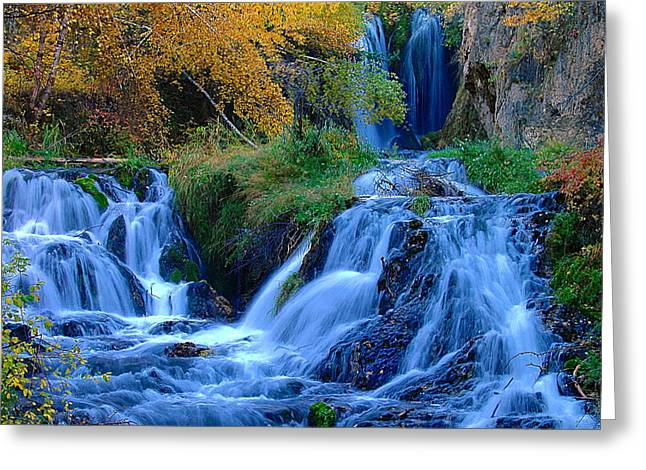 Rough Lock Falls Sd Greeting Card by John Currie