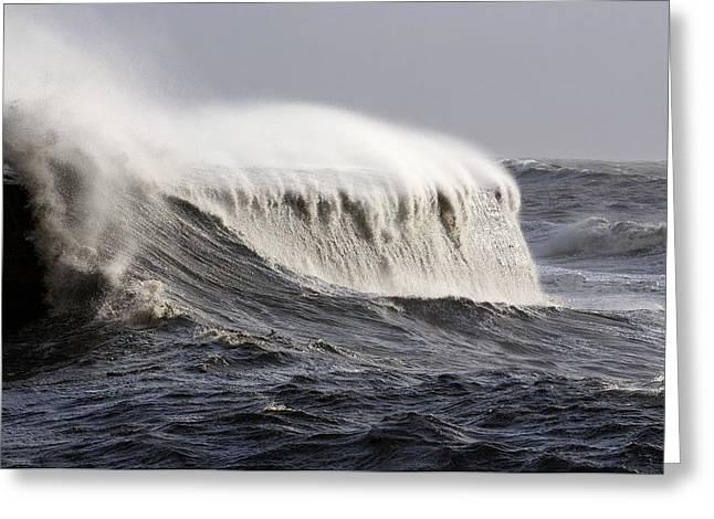 Rough Sea Greeting Card