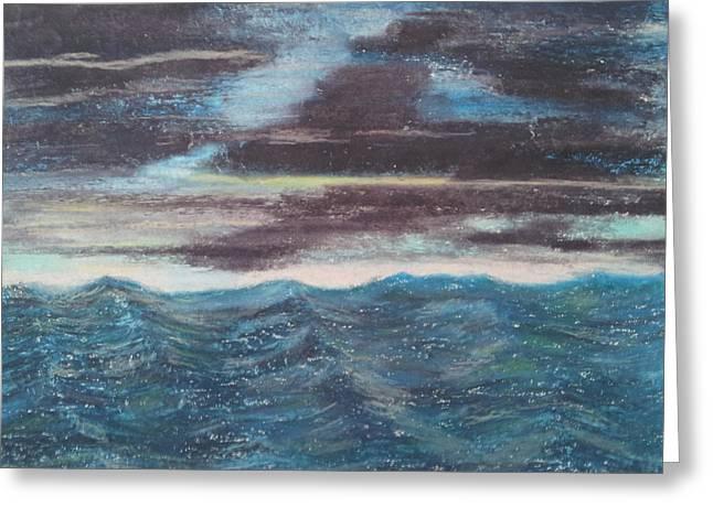 Rough Water Greeting Card by Michael Dancy