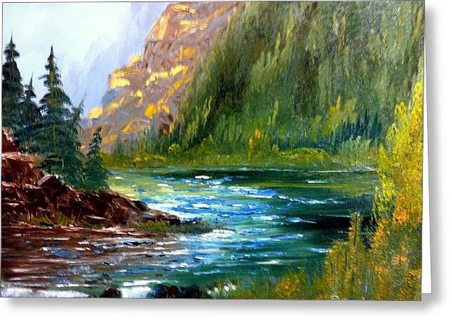 Rough Water Greeting Card by Roy Gould