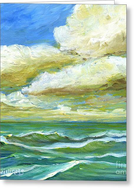Rough Waters Greeting Card by Maria Williams