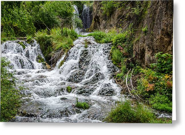 Roughlock Falls South Dakota Greeting Card