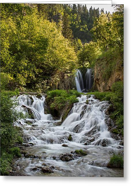 Greeting Card featuring the photograph Roughlock Falls South Dakota by Patti Deters