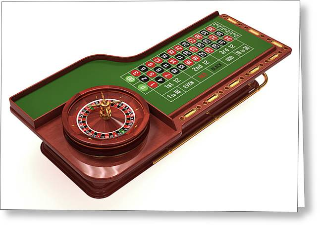 Roulette Table Greeting Card by Ktsdesign