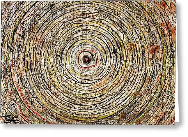 Round And Around Greeting Card by Carla Sa Fernandes
