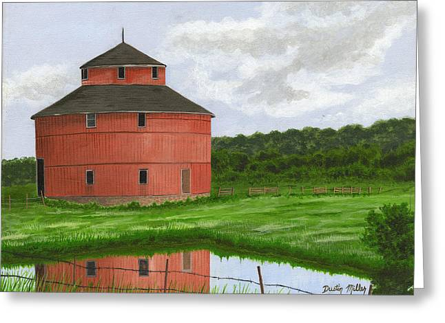 Round Barn Greeting Card by Dustin Miller