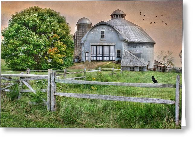 Round Barn Farm Greeting Card