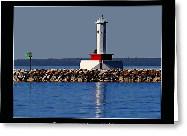 Round Island Passage Lighthouse Greeting Card
