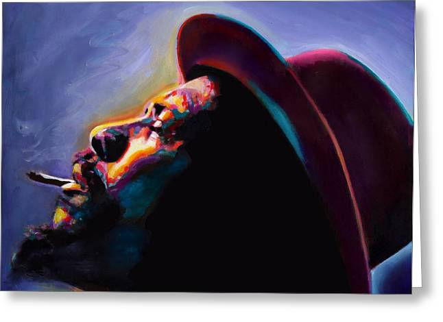Round Midnight Thelonious Monk Greeting Card by Vel Verrept