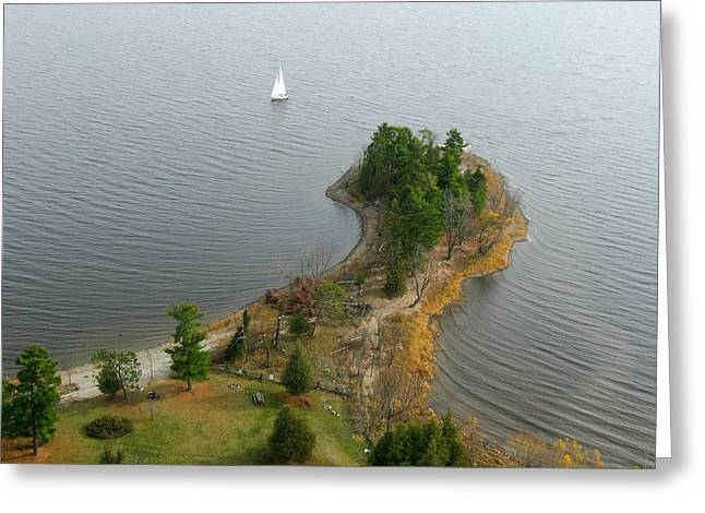 Greeting Card featuring the photograph Round The Point  Pinheys Point Ontario by Rob Huntley
