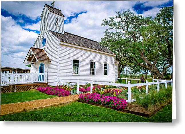 Round Top Chapel Greeting Card