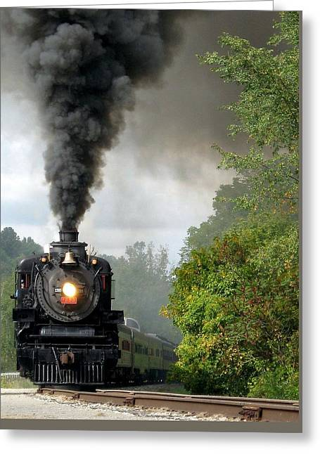 Steamin' In The Valley Greeting Card