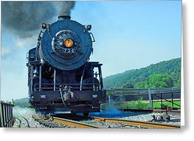 Greeting Card featuring the photograph Rounding The Bend by Mike Flynn