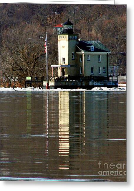 Roundout Lighthouse Greeting Card