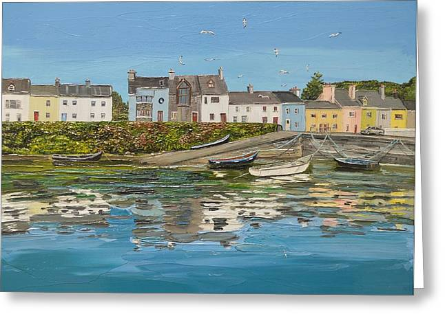 Roundstone Reflections Roundstone Connemara Greeting Card