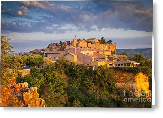 Roussillon Dawn Greeting Card by Brian Jannsen