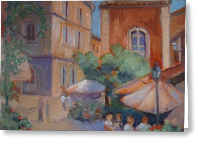 Roussillon Greeting Card by Linda  Wissler