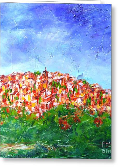 Roussillon Village Greeting Card