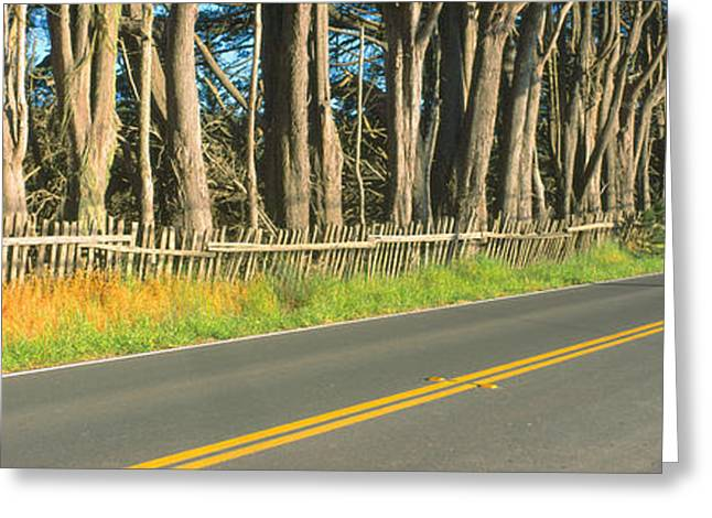 Route 1, Mendocino, California Greeting Card by Panoramic Images