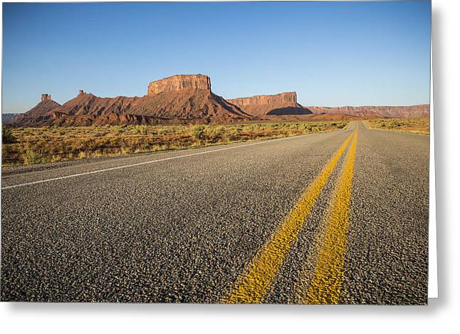 Route 128 Near Castle Valley Greeting Card by Adam Romanowicz
