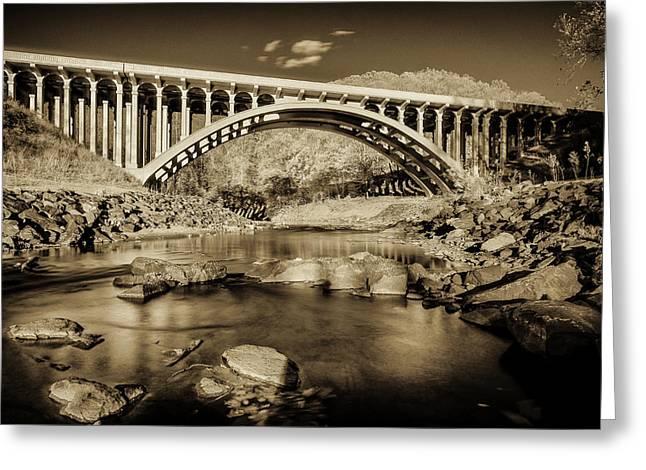Route 40 Bridge Greeting Card by Geoffrey Baker