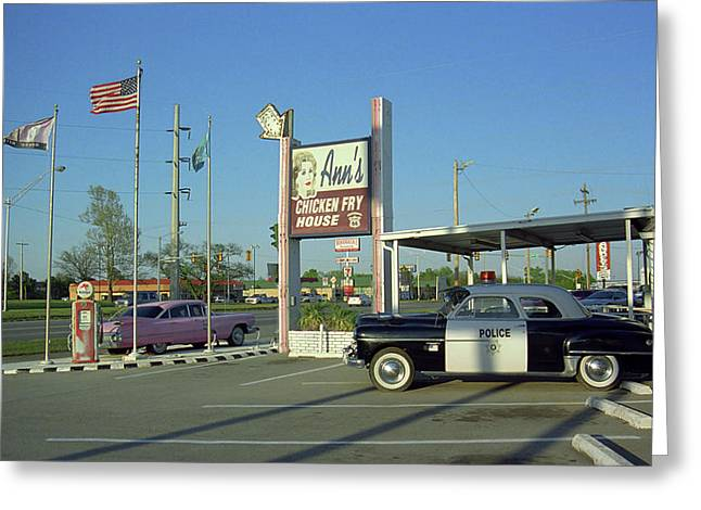 Route 66 - Anns Chicken Fry House Greeting Card