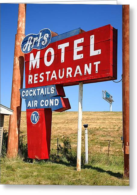 Route 66 - Art's Motel Greeting Card