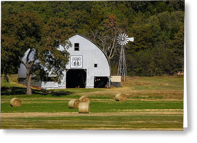Route 66 Barn Greeting Card