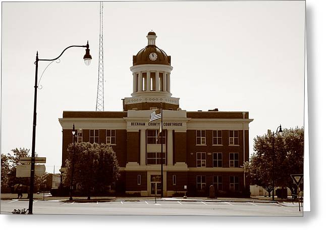 Route 66 - Beckham County Courthouse Greeting Card