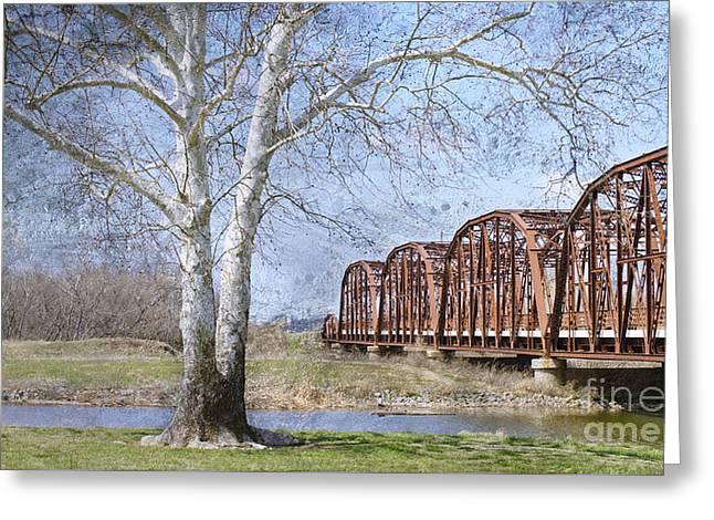 Route 66 Bridge Greeting Card by Betty LaRue