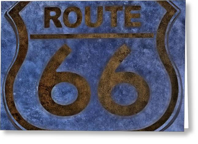 Route 66 Greeting Card by Dan Sproul