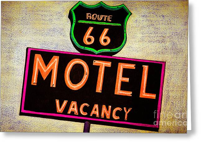 Route 66 Drawing Greeting Card