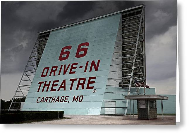 Route 66 Drive In Greeting Card