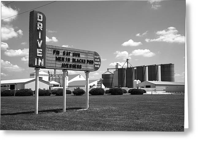 Route 66 Drive-in Theater Greeting Card by Frank Romeo