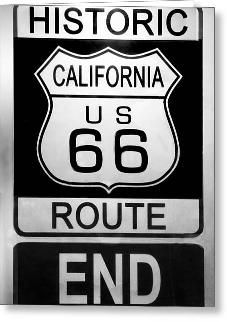Route 66 End Greeting Card
