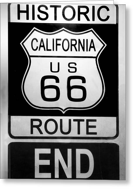 Route 66 End Greeting Card by Chuck Staley