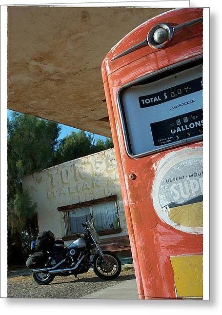 Route 66 Harley Greeting Card