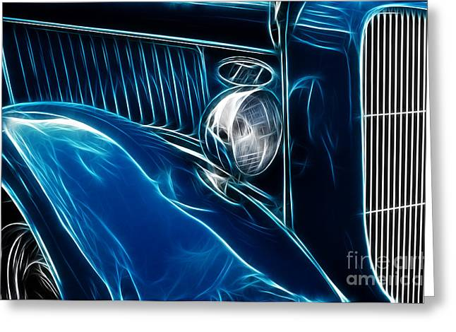 Route 66 Hotter Rod Greeting Card by Bob Christopher