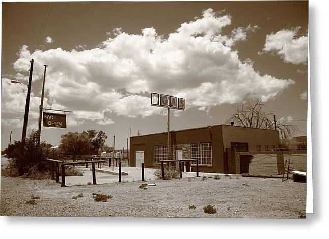Route 66 In Arizona Greeting Card by Frank Romeo