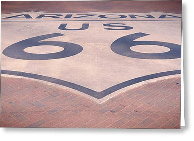 Route 66 In Brick  Greeting Card