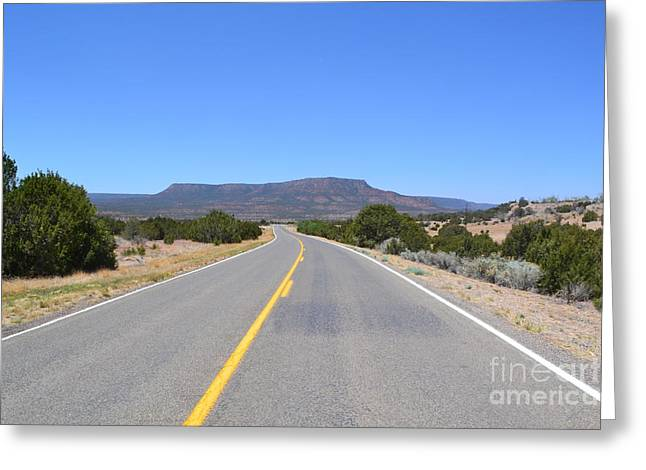 Greeting Card featuring the photograph Route 66 In New Mexico by Utopia Concepts