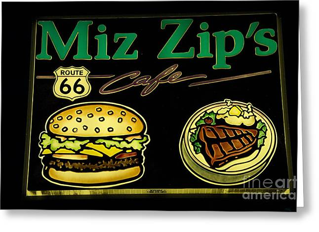Route 66 Miz Zips Greeting Card by Bob Christopher