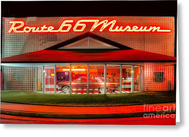 Route 66 Museum Greeting Card by Twenty Two North Photography