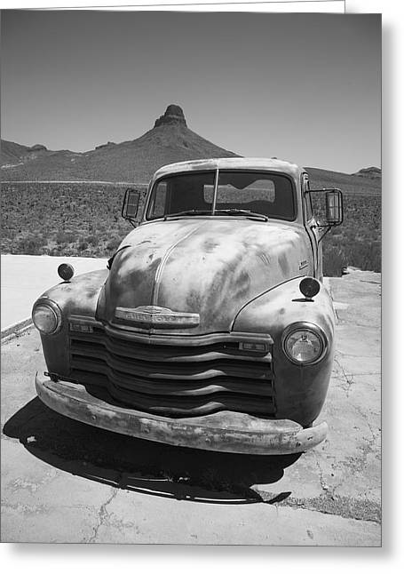 Route 66 - Old Chevy Pickup Greeting Card by Frank Romeo