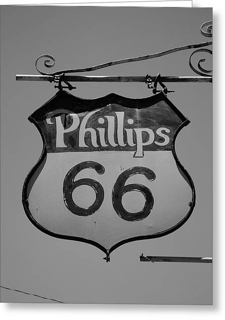 Route 66 - Phillips 66 Petroleum Greeting Card by Frank Romeo