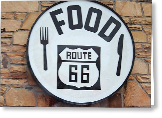 Route 66 Restaurant  Greeting Card by Cynthia Guinn